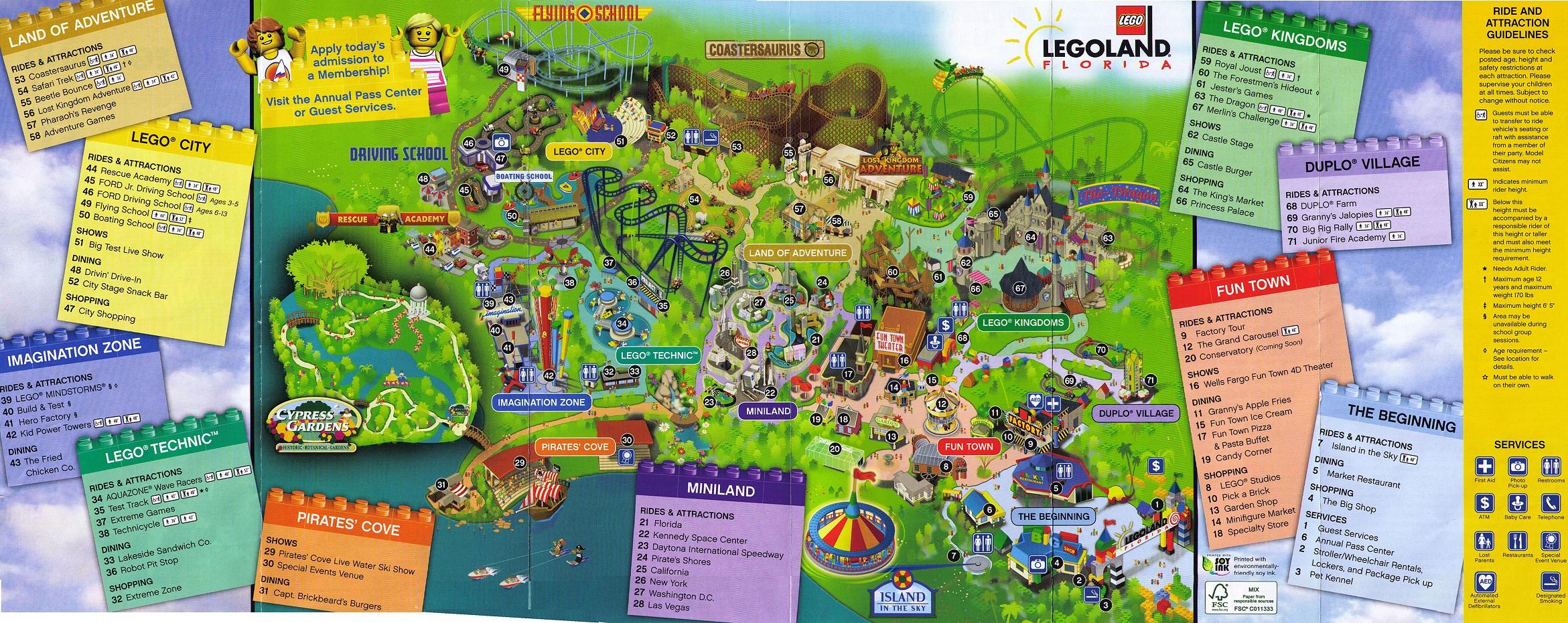 Park Map 1 At Legoland Florida Photos - Florida Botanical Gardens Map