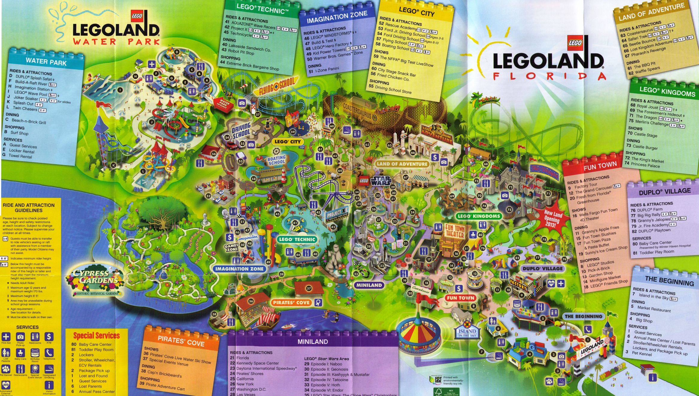 Park Map 3 At Legoland Florida Photos - Legoland Map Florida