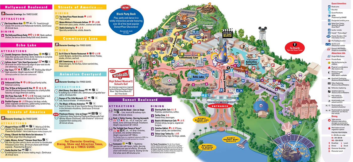 Park Maps 2008 - Photo 1 Of 4 - Disney Florida Maps 2018
