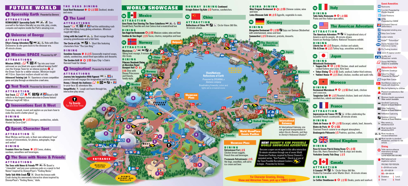 Park Maps 2009 - Photo 2 Of 4 - Epcot Florida Map