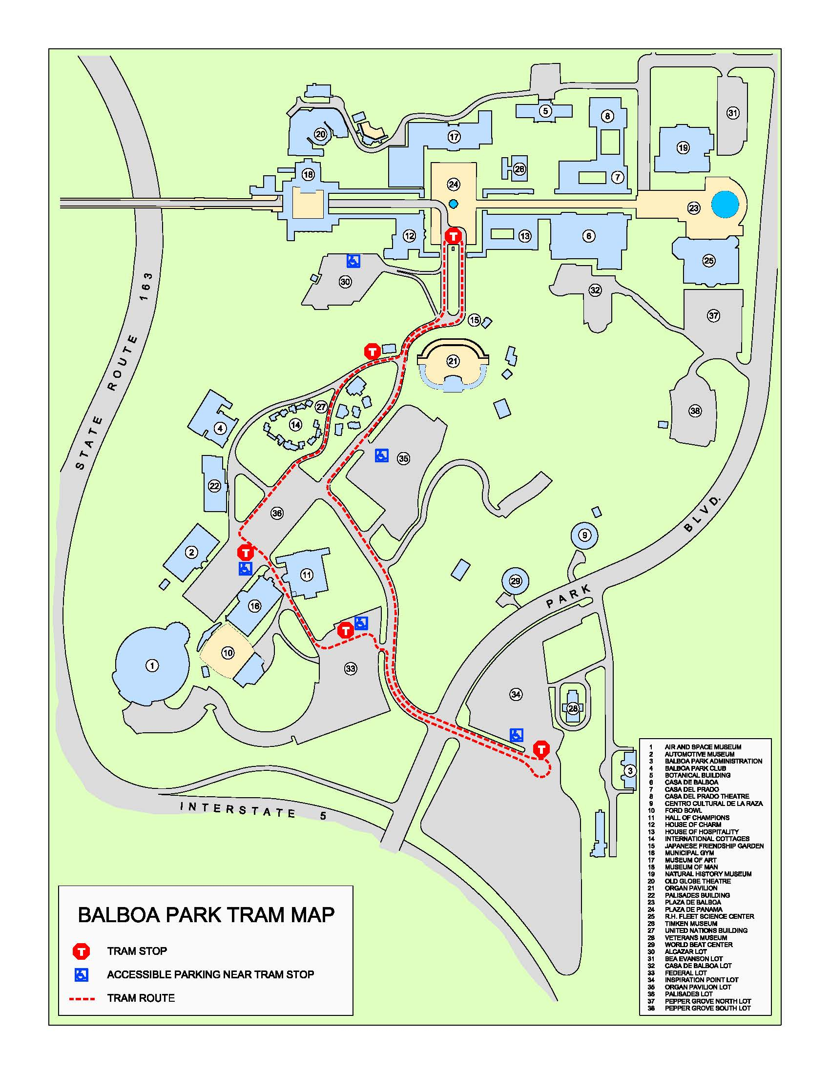 Park Tram | Balboa Park - Map Of Balboa Park San Diego California