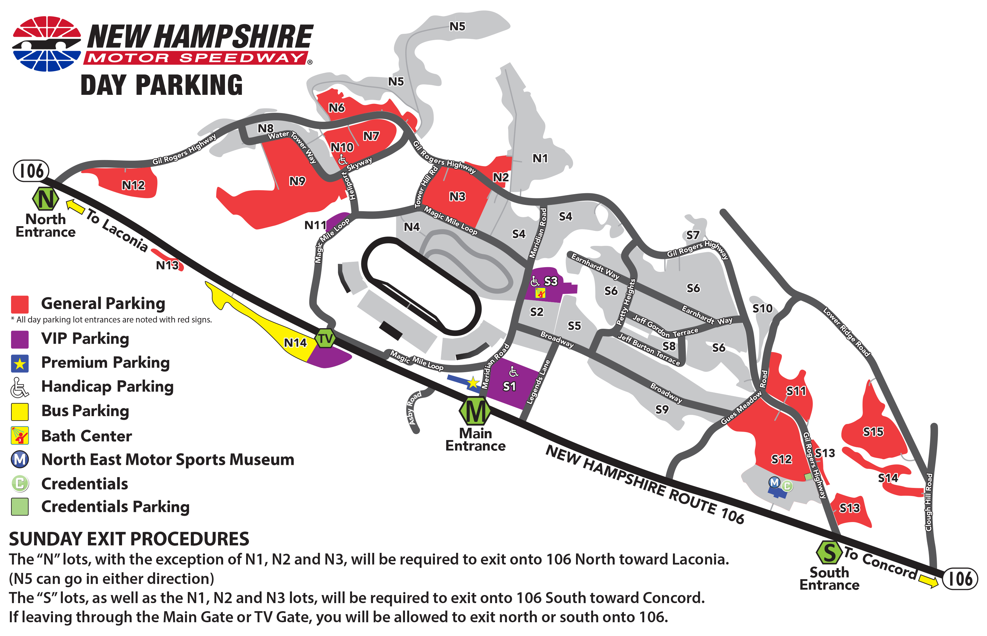 Parking Map | Trip Planner | Nhms - Texas Motor Speedway Parking Map