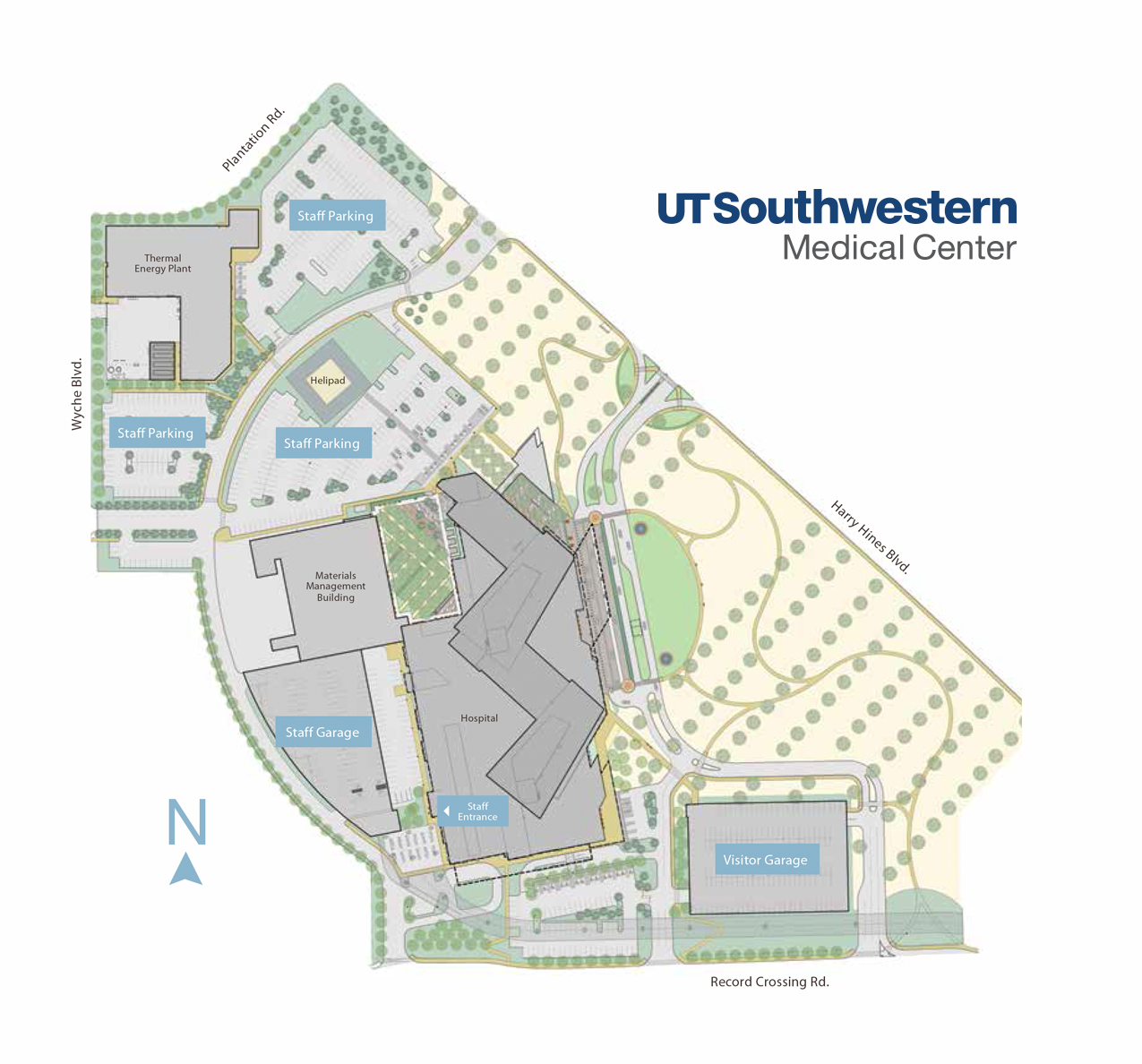 Parking | William P. Clements Jr. University Hospital | Ut - Texas Health Dallas Map