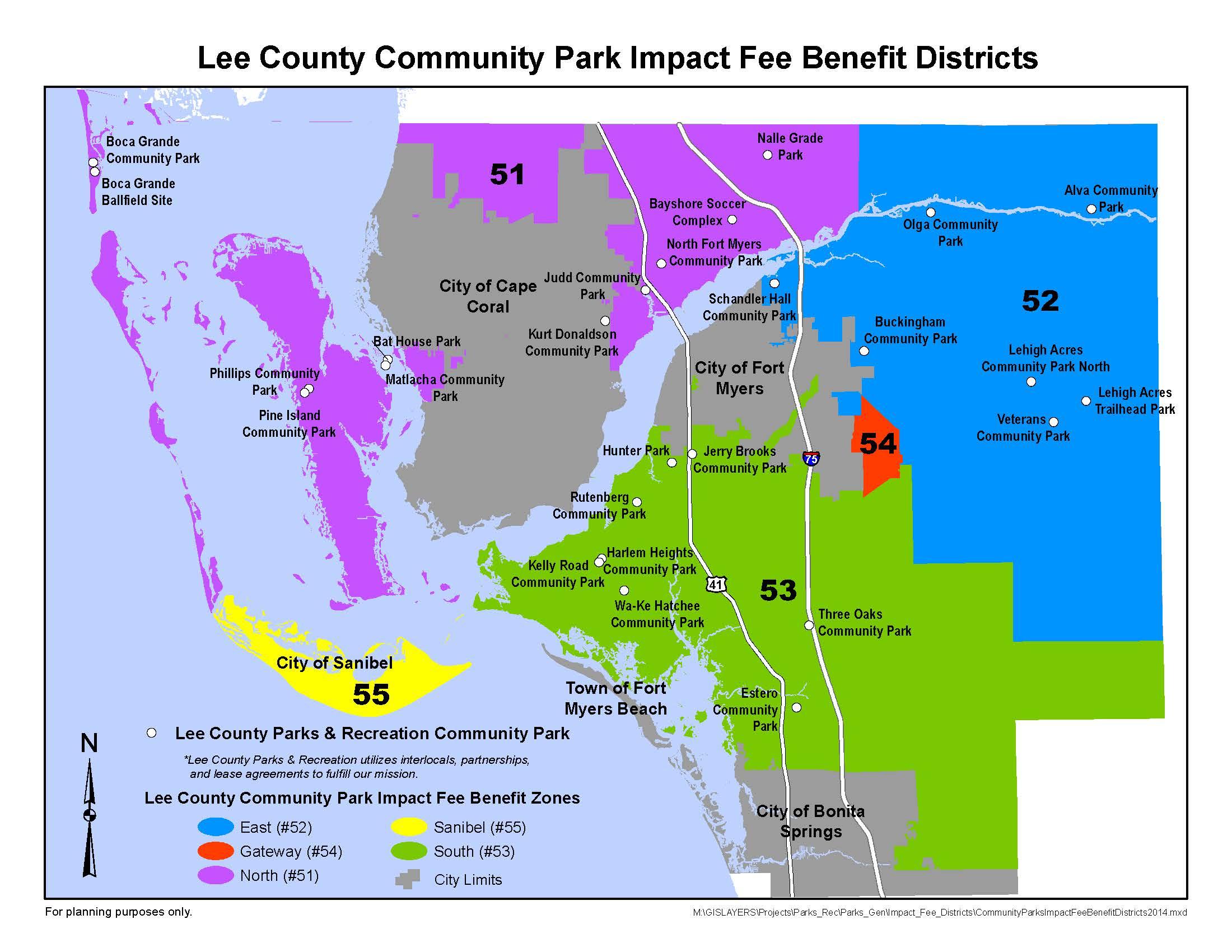 Parks & Recreation - Cape Coral Florida Flood Zone Map