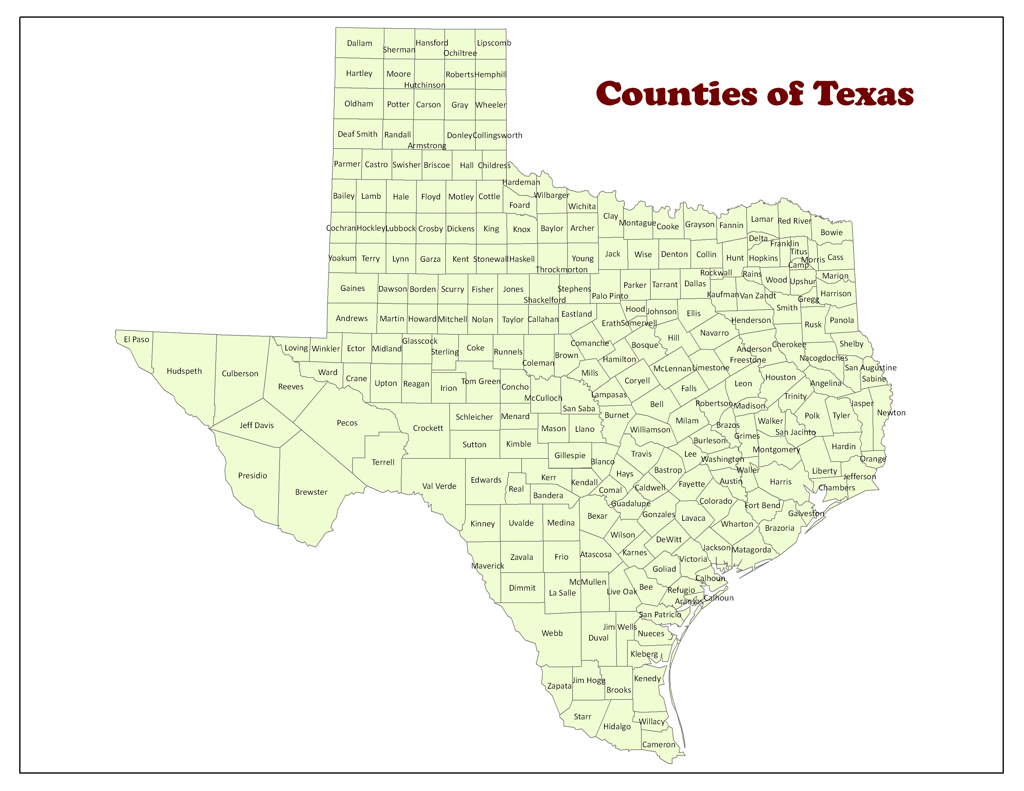 Part 5 Map In World Road - Google Maps Texas Counties
