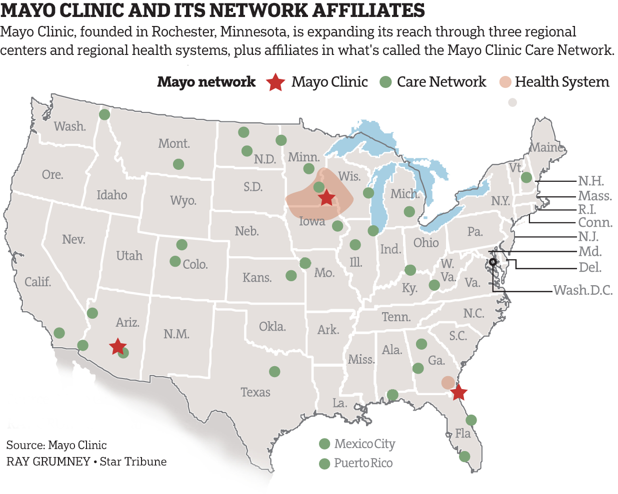 Part Two: Cautiously, Mayo Clinic Builds An Empire - Startribune - Mayo Clinic Florida Map