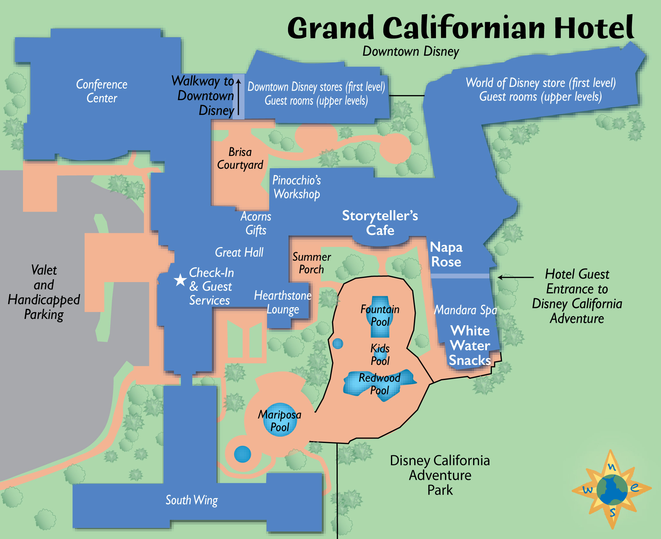 Passporter's Disneylandlive! Guide: Always Up-To-Date! - California Hotel Map