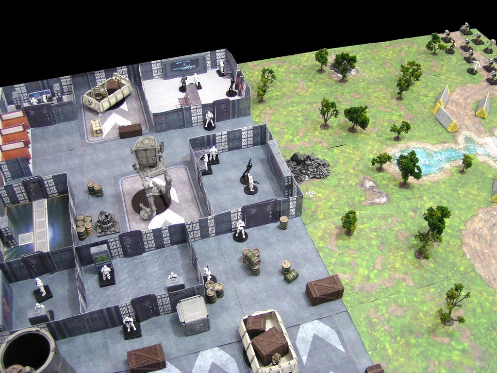 Paul's Star Wars Miniatures: More 3D Map Fun - Imperial Ground Base - Star Wars Miniatures Printable Maps