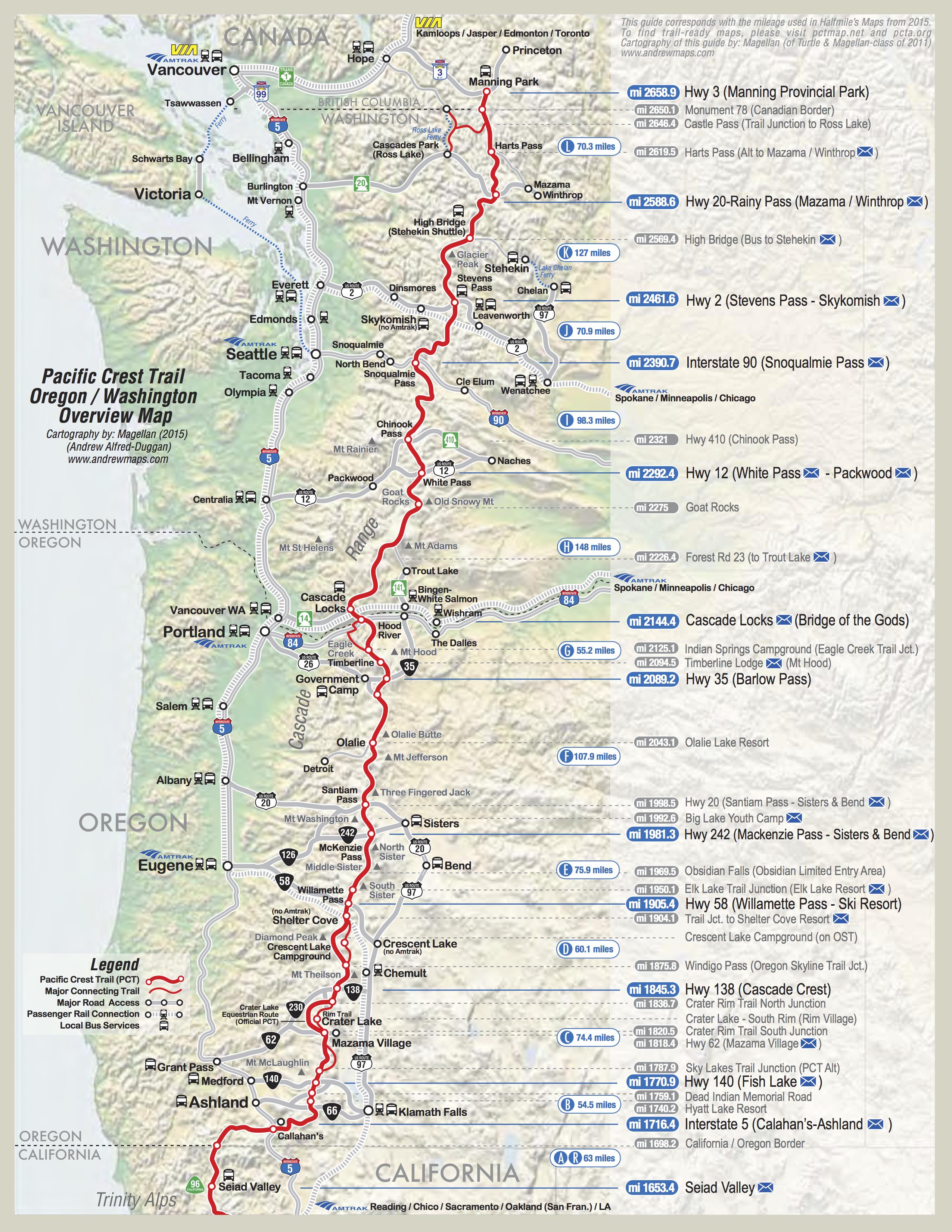 Pct Map California | California Map | Pct | Pacific Crest Trail, Pct - Pct Map California