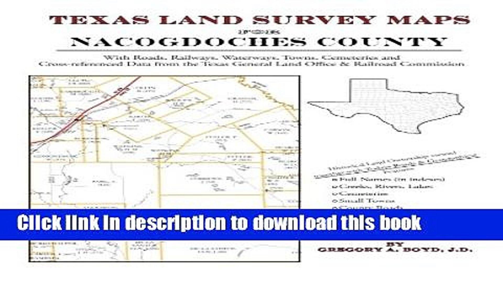 Pdf] Texas Land Survey Maps For Nacogdoches County Download Online - Texas Land Survey Maps