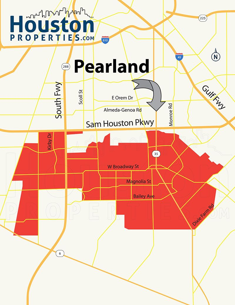 Pearland Houston Tx Map | Great Maps Of Houston | Houston - Map Of Subdivisions In Magnolia Texas