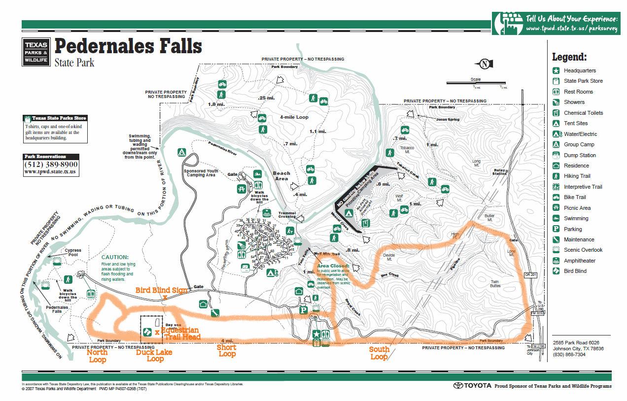 Pedernales Falls, Johnson City Tx - Johnson City Texas Map