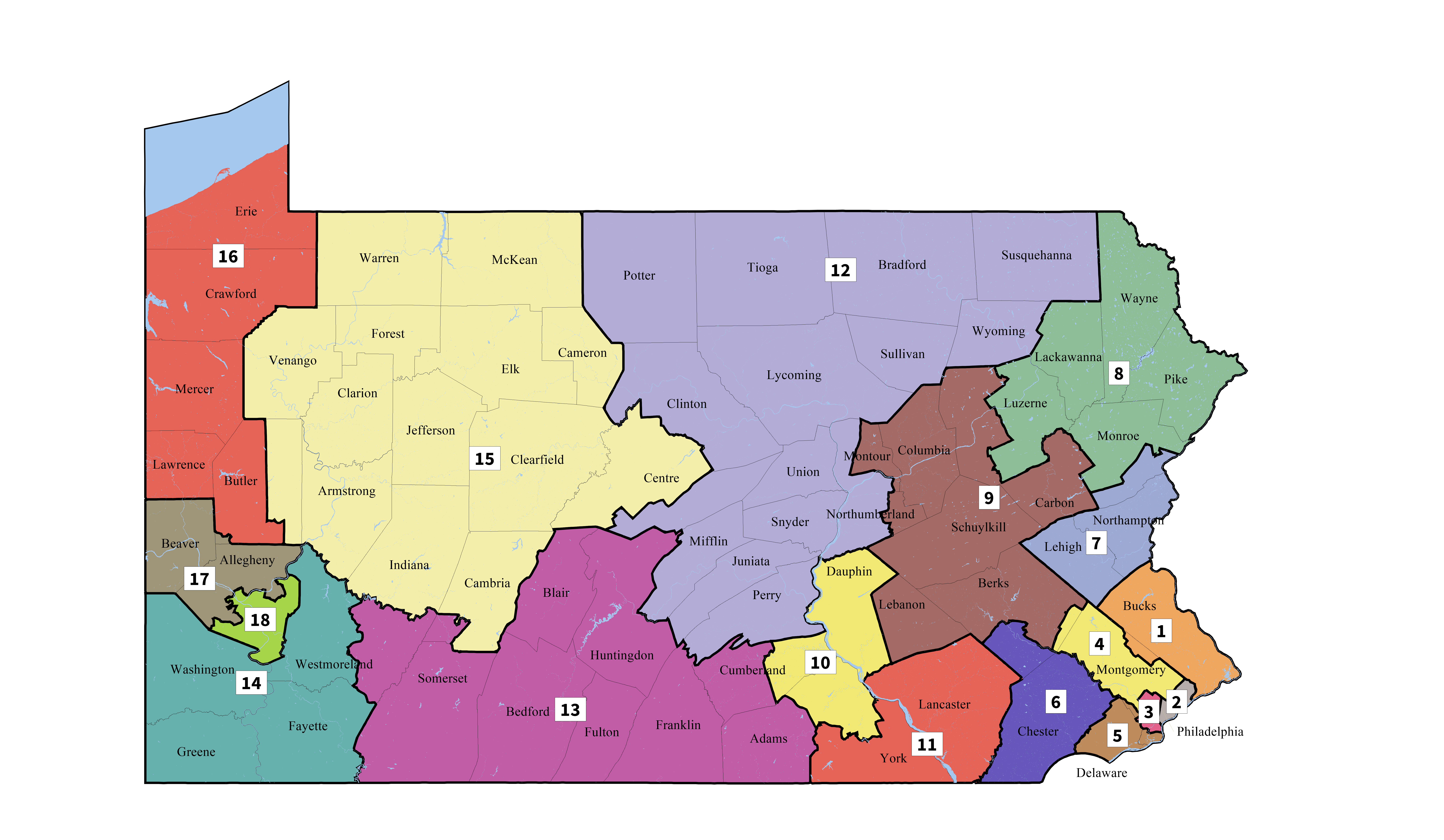 Pennsylvania's Congressional Districts - Wikipedia - Texas State Senate District 10 Map