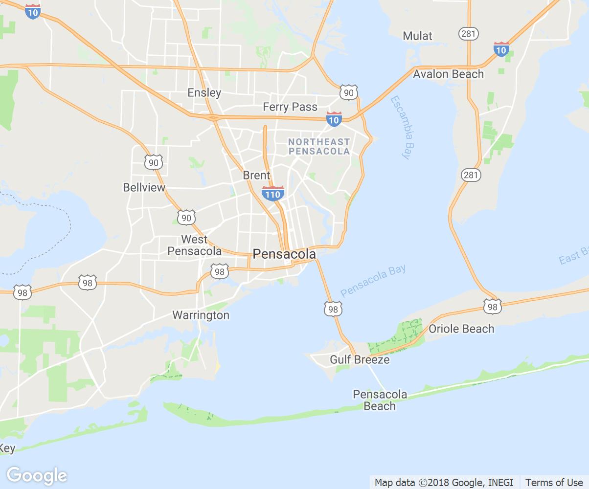 Pensacola-Florida-Map - Blip Billboards Canada - Where Is Pensacola Florida On A Map