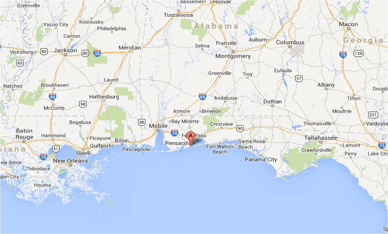 Pensacola Map | Michigan Traveler - Where Is Pensacola Florida On A Map