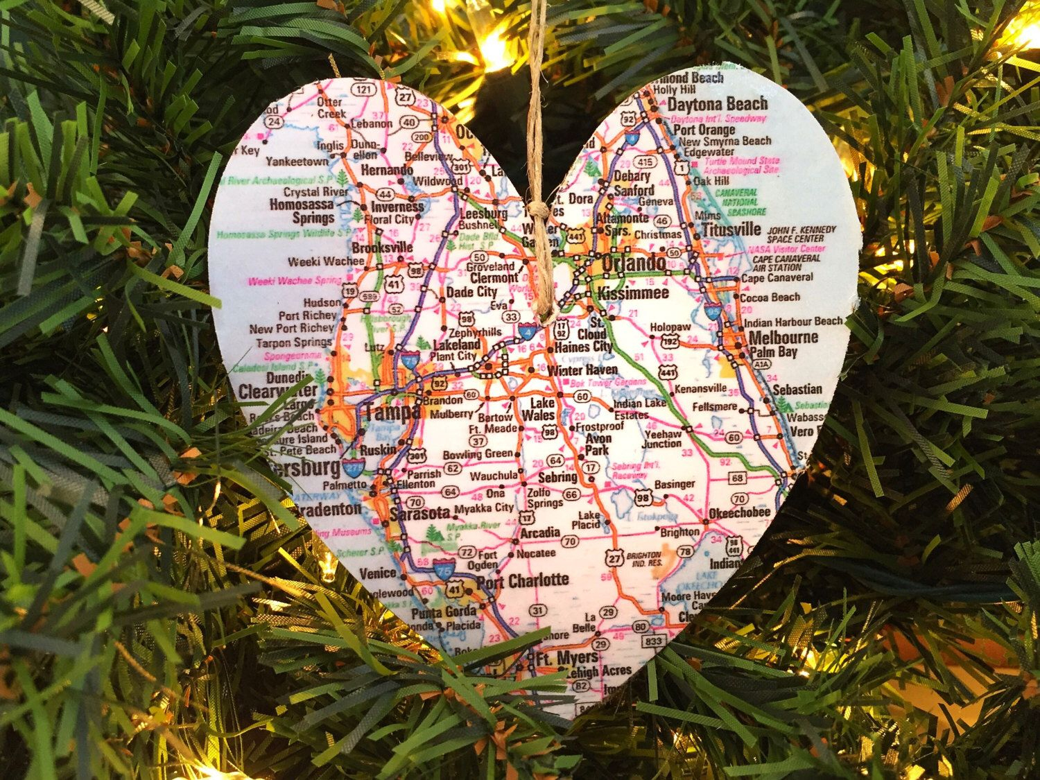 Personalized Florida Map Ornament | Jolly Holiday | Pinterest - Christmas Florida Map