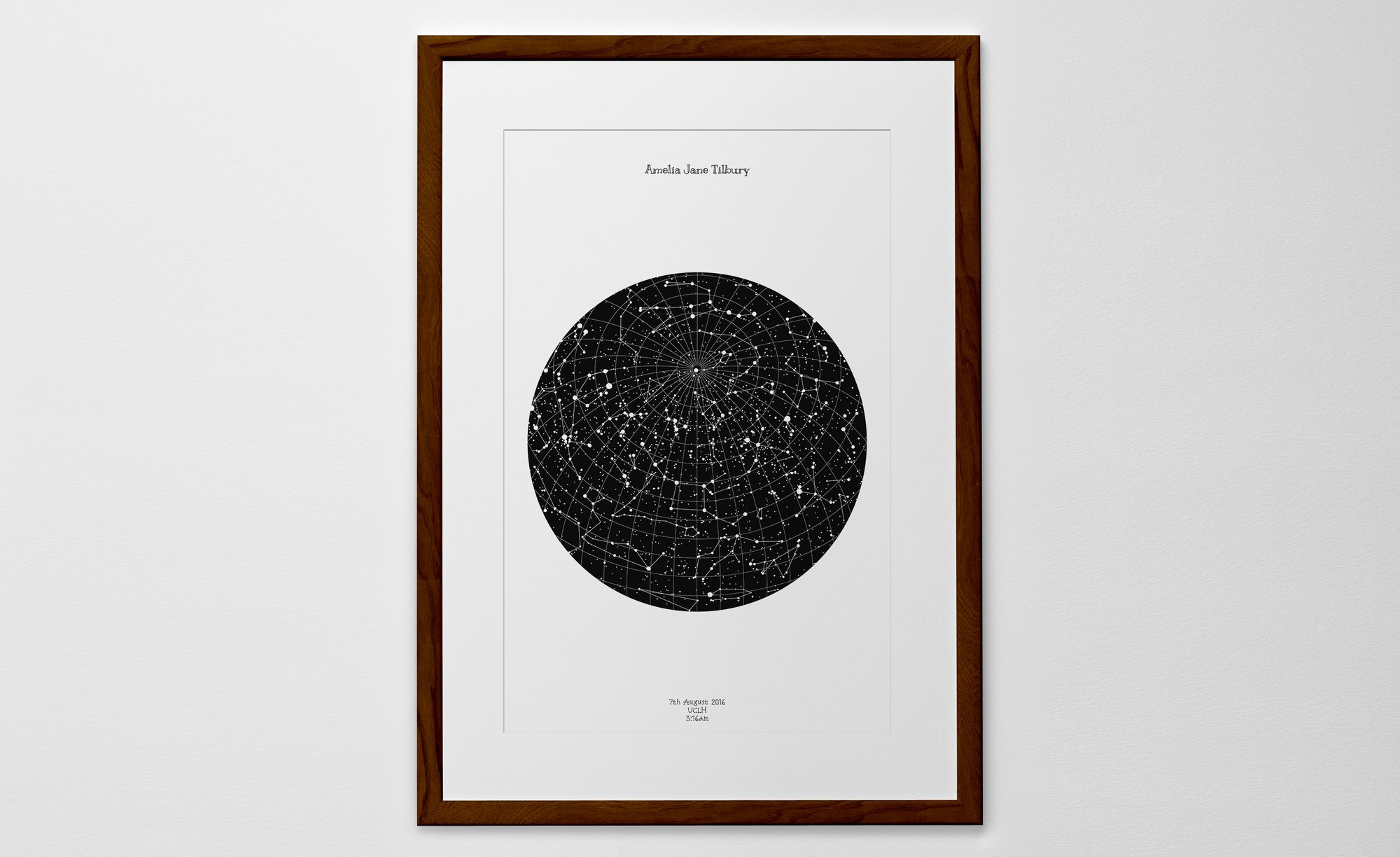 Personalized Star Map Print Or Poster Of The Night Sky - Posterhaste - Free Printable Star Maps