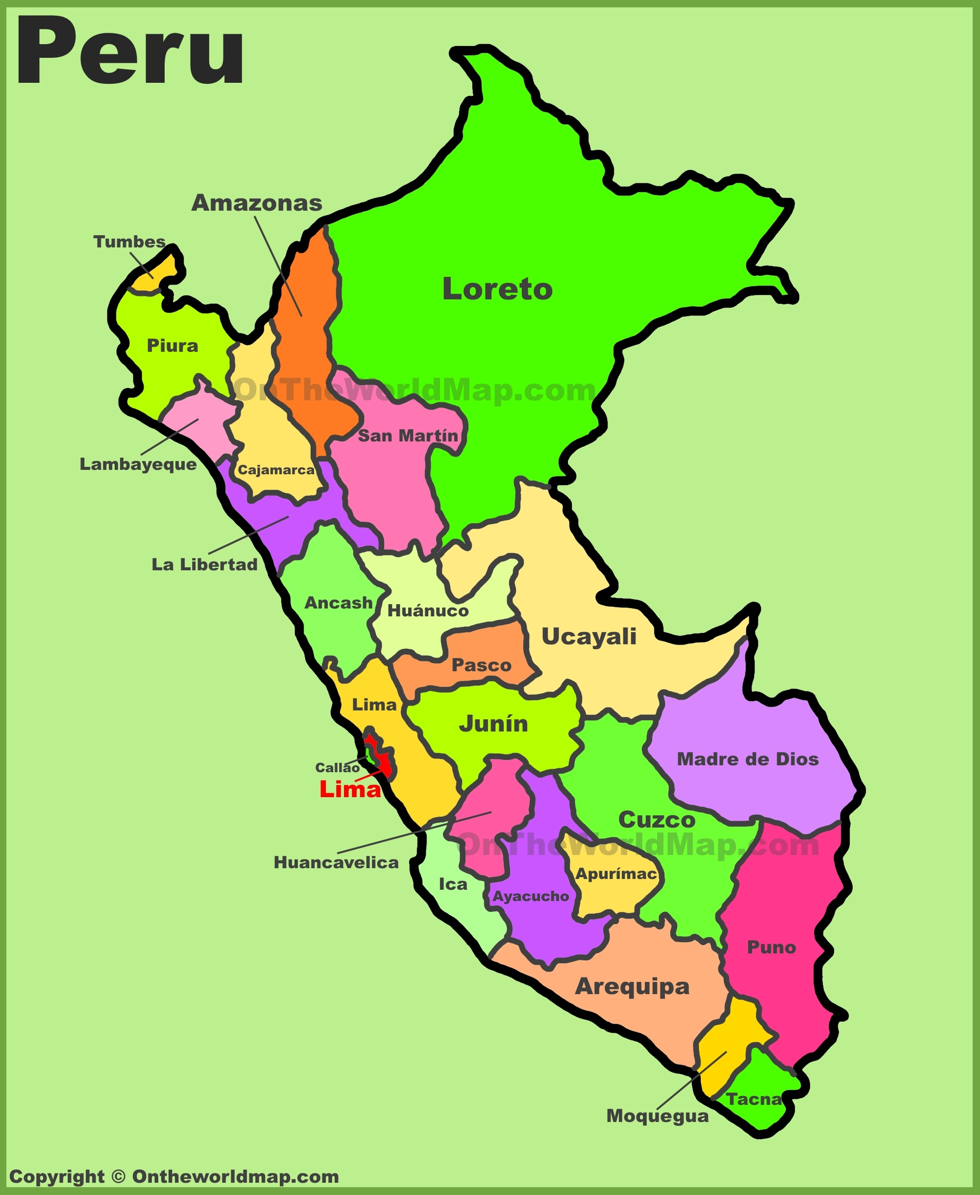 Peru Maps | Maps Of Peru - Printable Map Of Peru