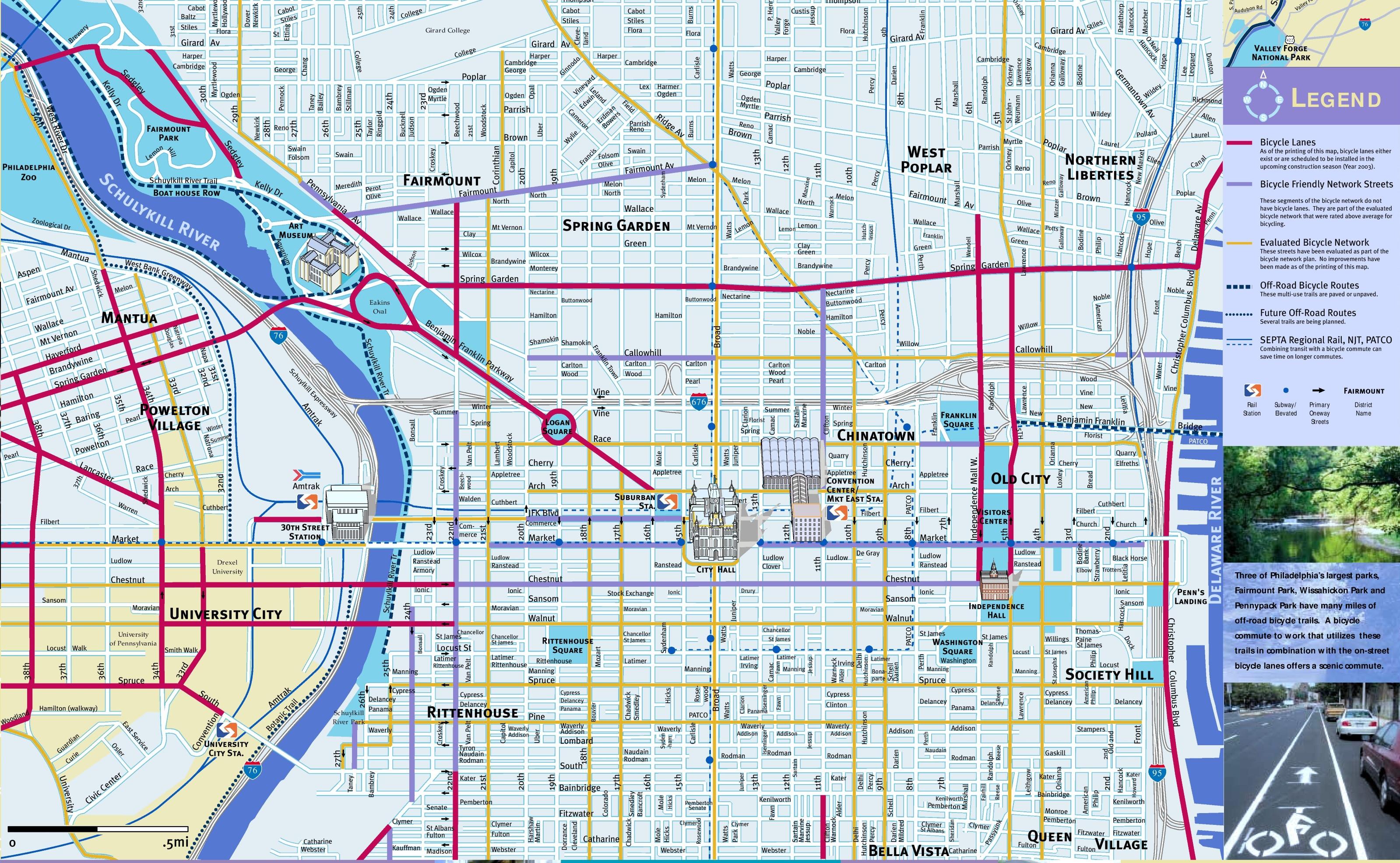 Philadelphia Maps | Pennsylvania, U.s. | Maps Of Philadelphia - Printable Map Of Center City Philadelphia