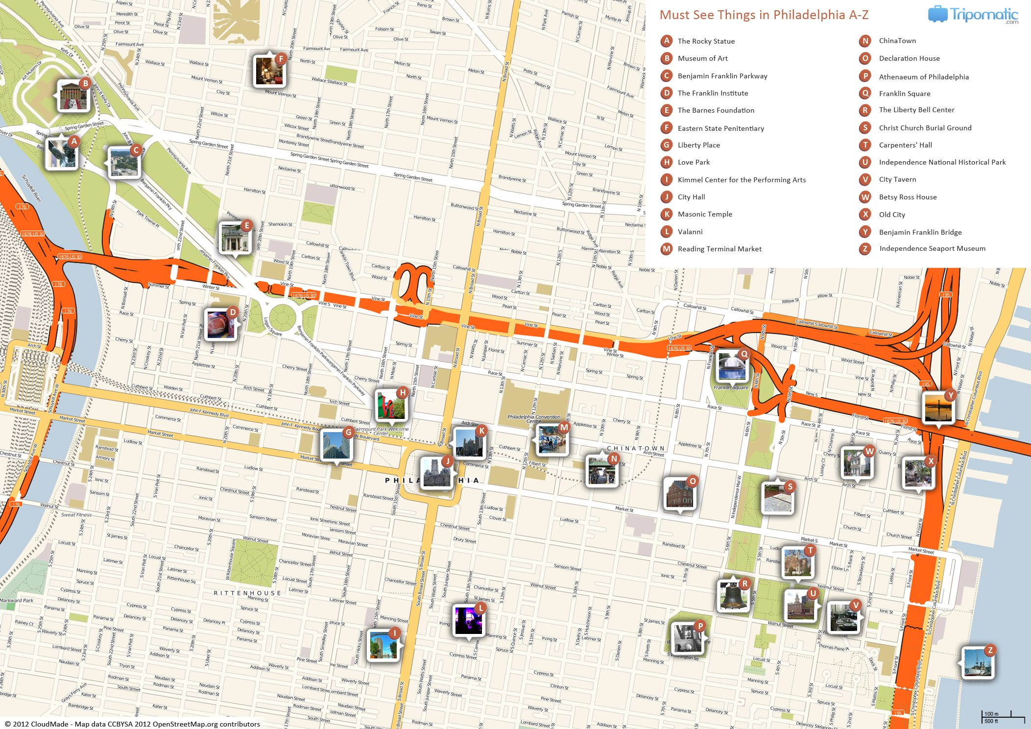 Philadelphia Printable Tourist Map | Free Tourist Maps - Philadelphia Street Map Printable