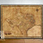 Photos Of Texas Map Wall Art (Showing 19 Of 20 Photos)   Old Texas Map Wall Art