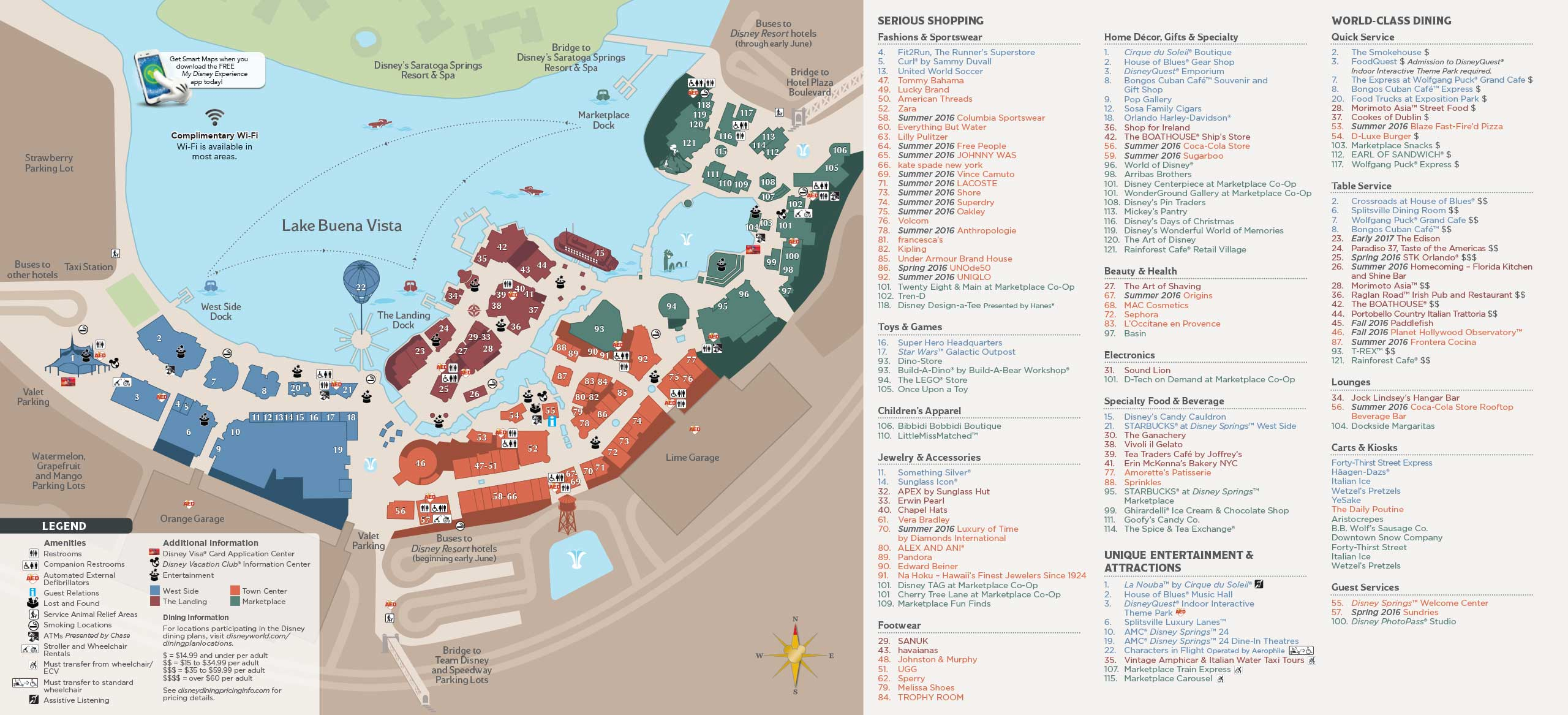 Photos - Revised Guide Map Format For Disney Springs With The - Disney Springs Florida Map