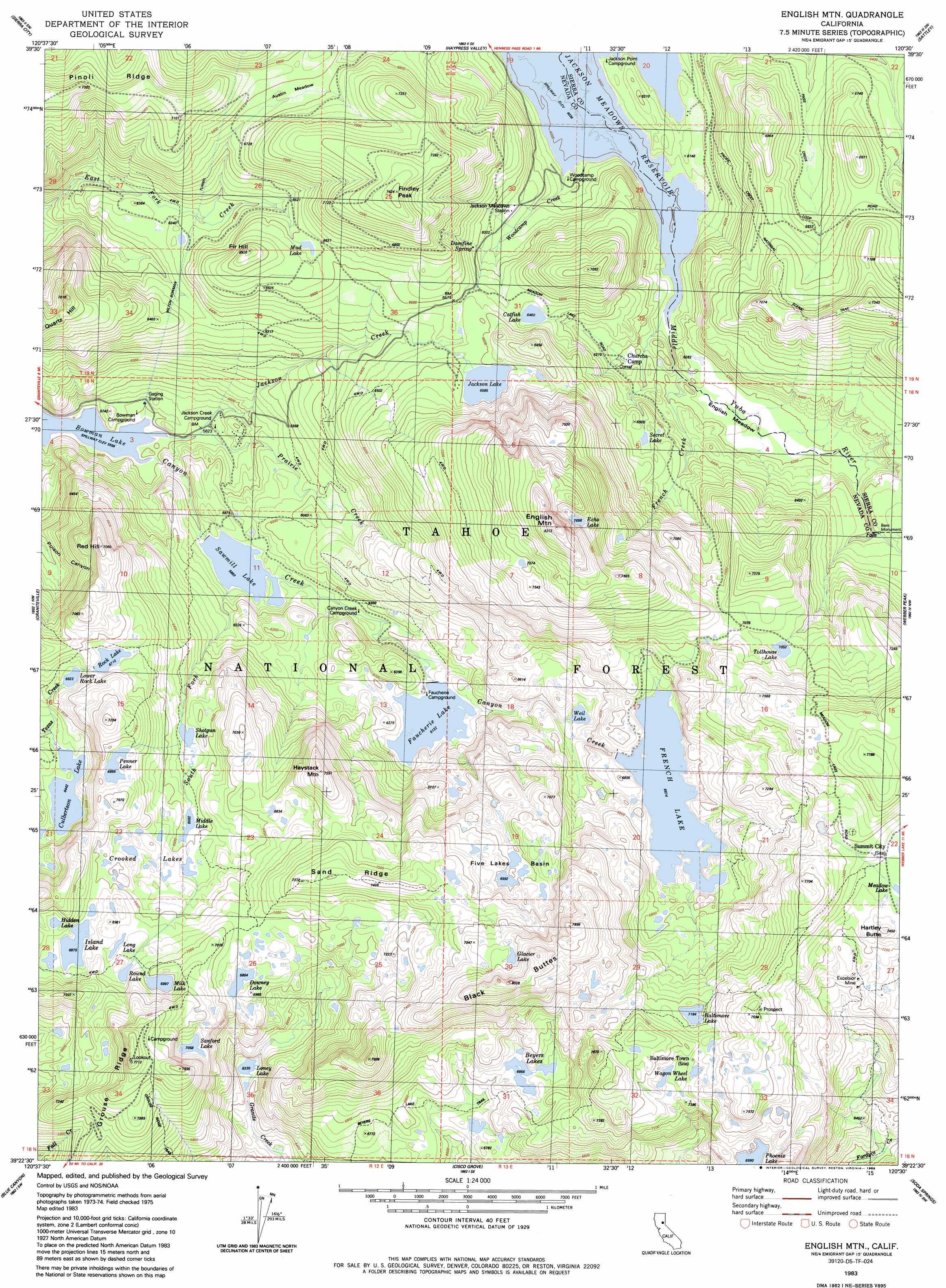 Physical Map Of California With Mountains Free Printable English - Usgs Topo Maps California