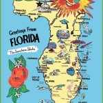 Pictorial Travel Map Of Florida   Florida Destinations Map