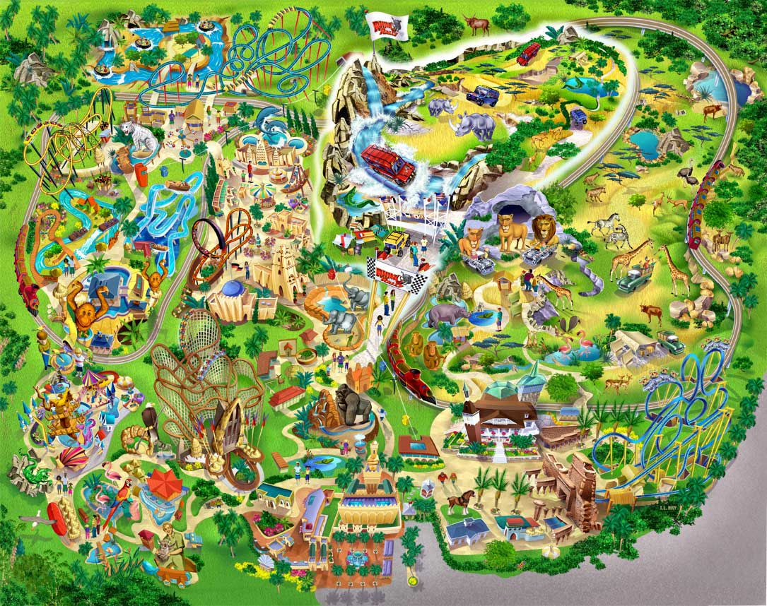 Pinapple-A-Day Natural Health Center On Favorite Vacation Spots - Bush Garden Florida Map