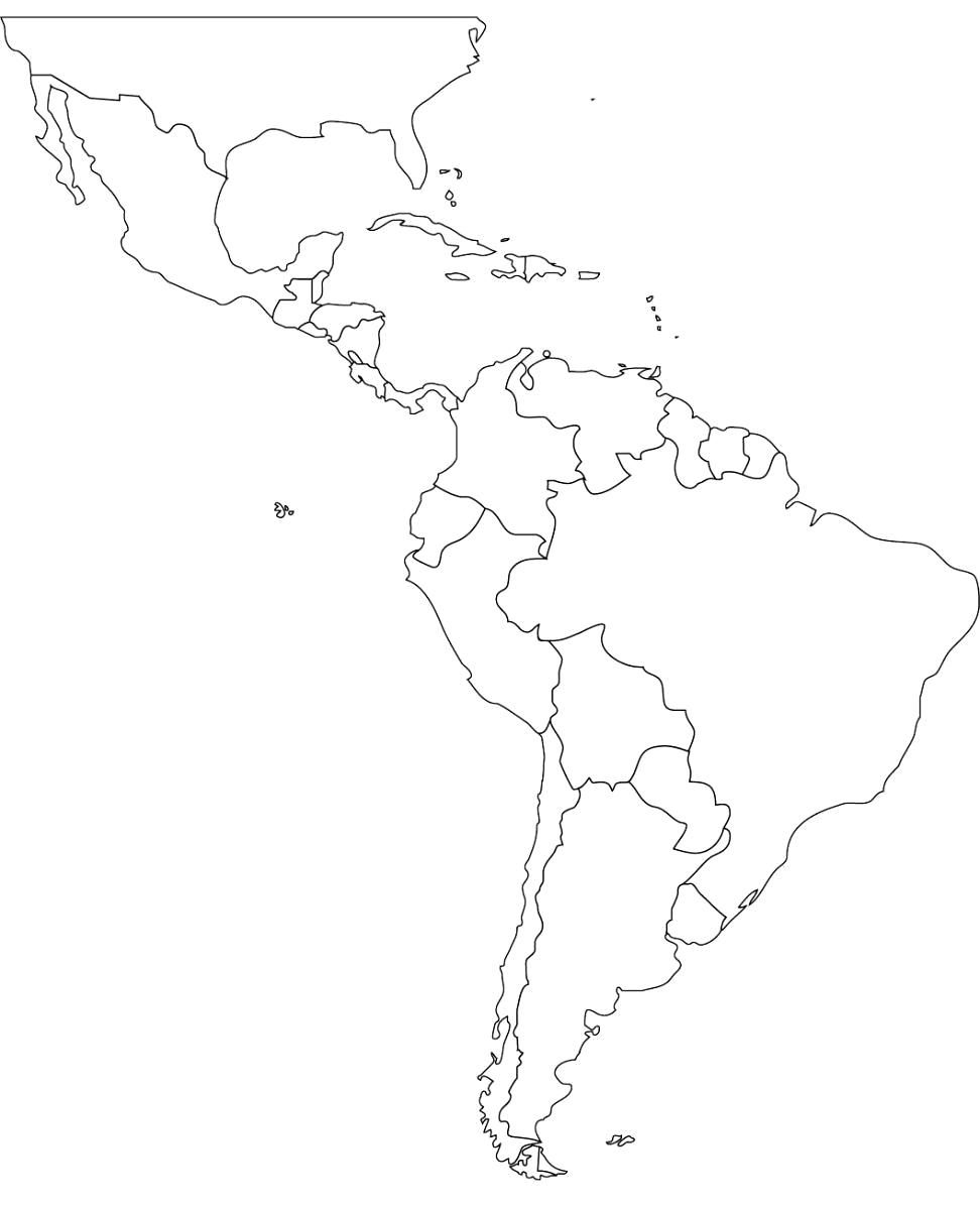 Pincecilia Dominguez On Cecilia | Pinterest | South America Map - Blank Map Of Latin America Printable
