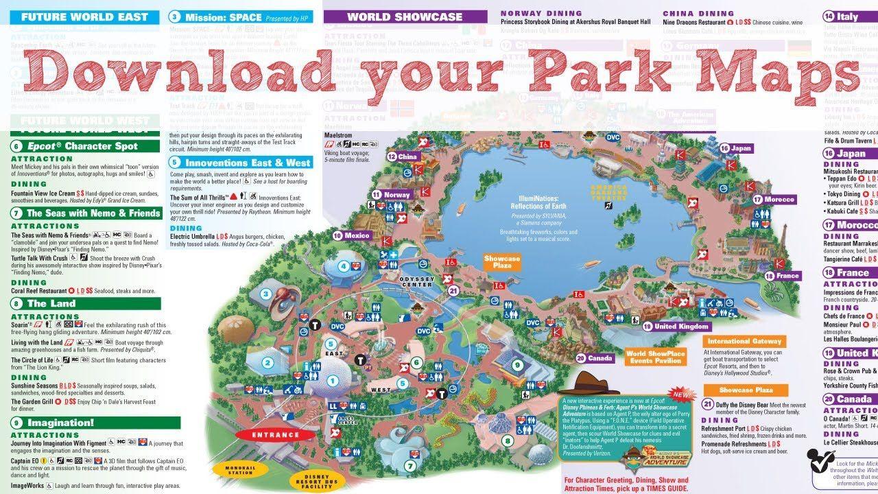 Pindawn E C On Travel - Theme Parks | Disney World Map, Disney - Printable Disney Maps