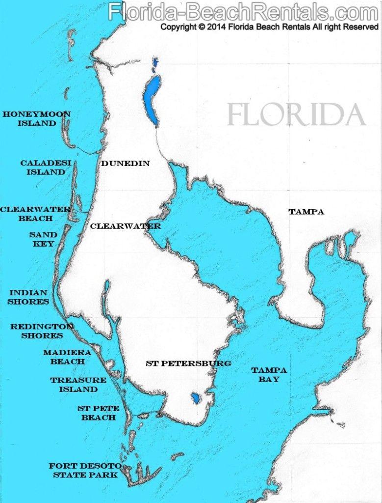 Pinellas County Florida Map, #florida #map #pinellascounty | Talk Of - Indian Beach Florida Map