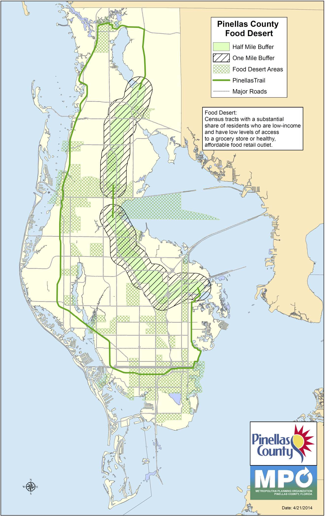 Pinellas County Trail Loop - Primary Selection Criteria - Pinellas Trail Map Florida