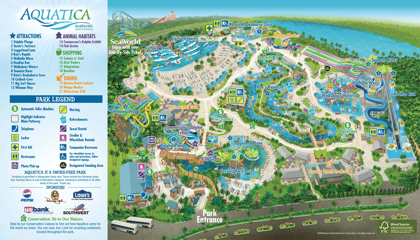 Pinjerry Dowds On Fartheristibin | Pinterest | Orlando Map - Aquatica Florida Map