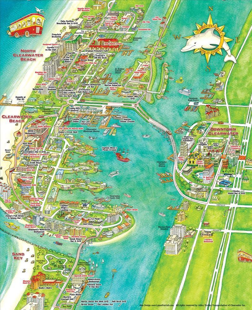 Pinkimberly Wingate On Florida | Florida, Clearwater Beach - Clearwater Beach Florida On A Map