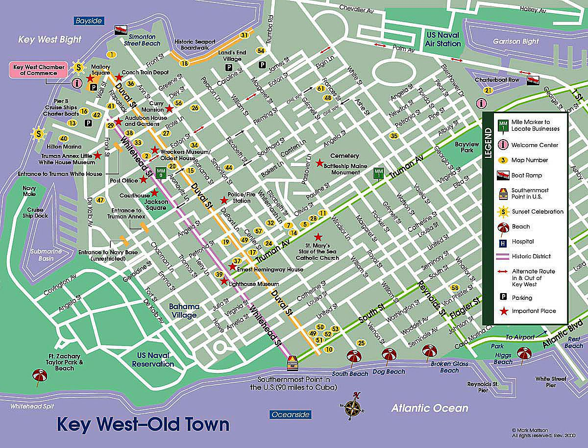 Pinpat Fann Fink On Florida | Key West Map, Key West Florida - Street Map Of Key West Florida