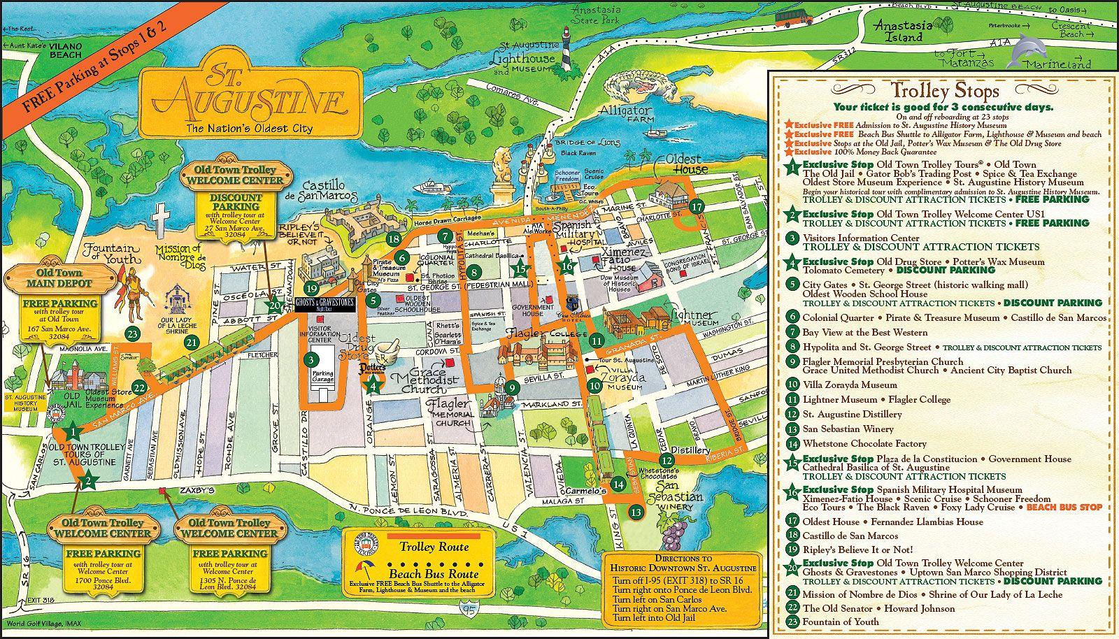 Pinpatsy Hedrick On Florida | Tours, Florida, Map - St Augustine Florida Map