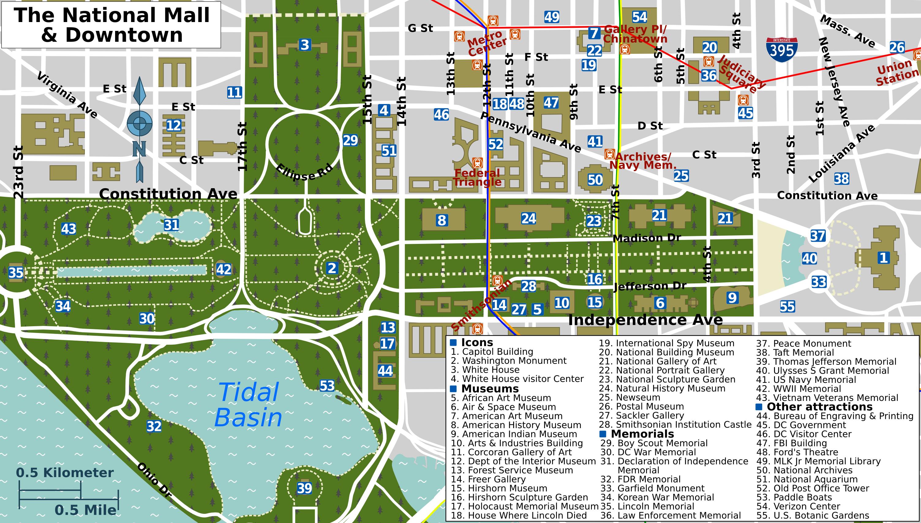 Pinpeggy Sheffold On Decor | Washington Dc Travel, Washington Dc - Printable Map Of Washington Dc Attractions