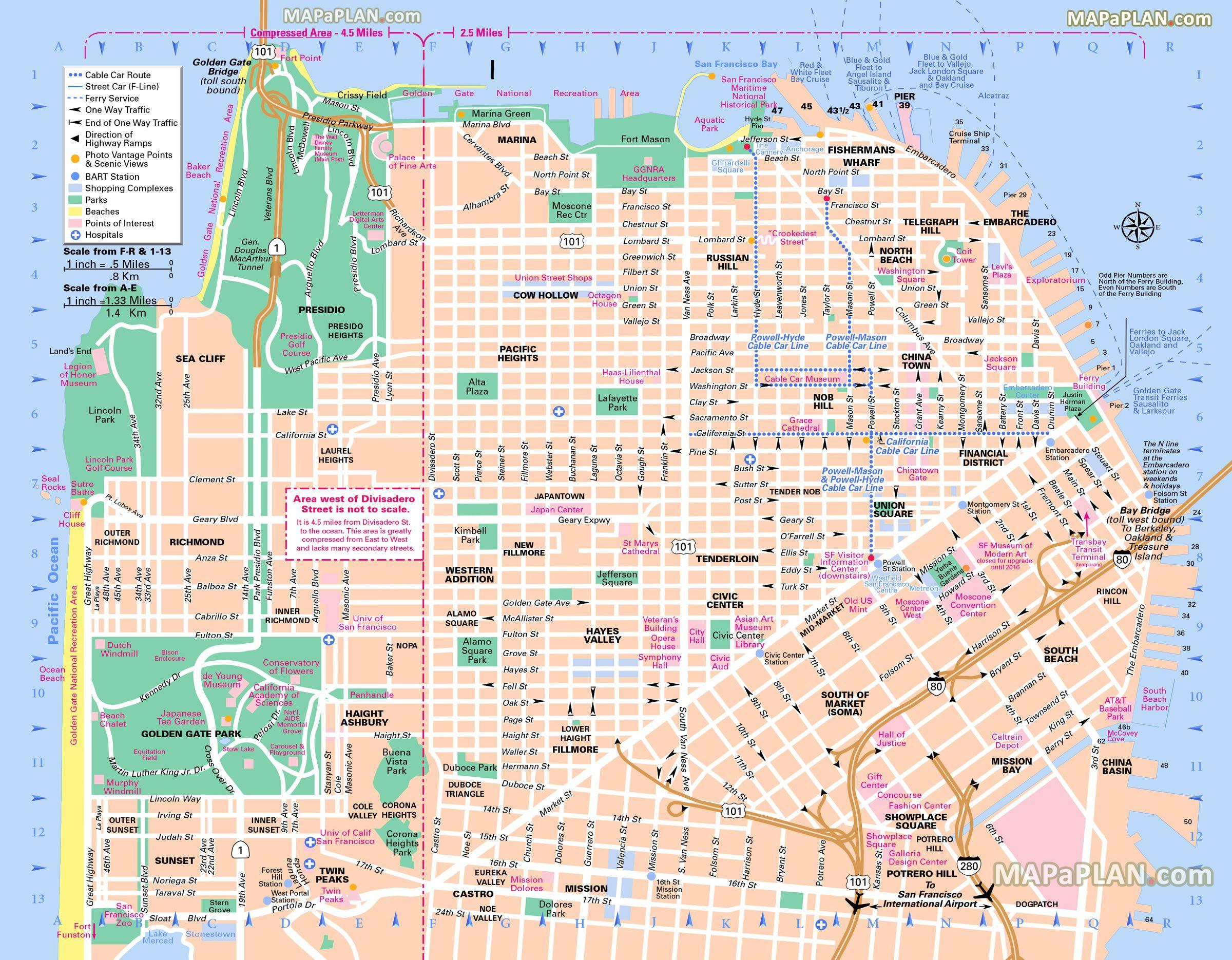 Pinricky Porter On Citythe Bay | Pinterest | San Francisco - Printable Map Of San Francisco