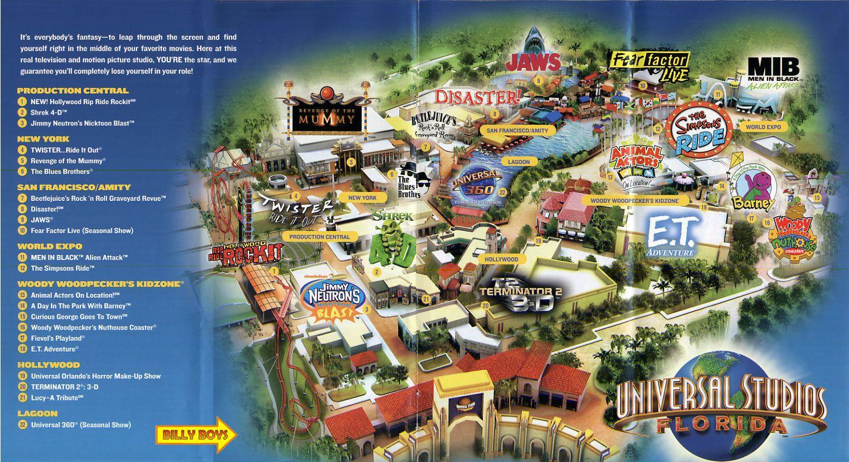Pinrobin Kemper On Orlando | Universal Studios Orlando Map - Universal Orlando Florida Map