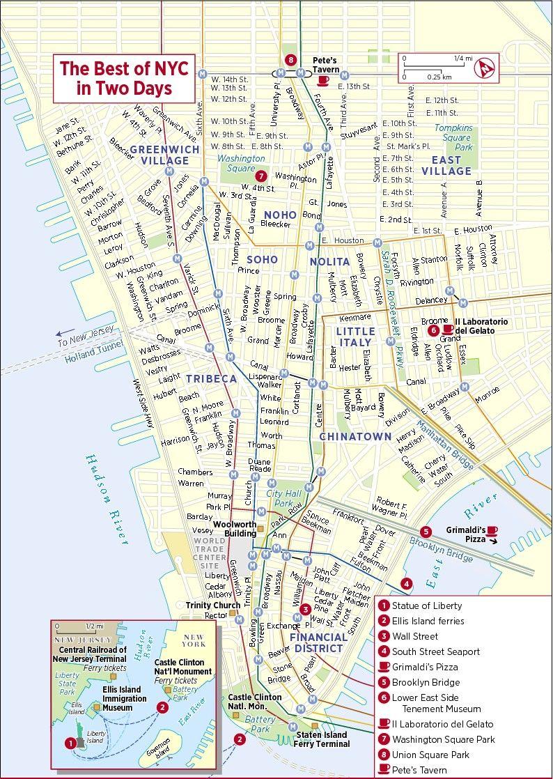 Pinsandy M On U.s. Travel   Pinterest   New York City Map, Map - Printable Walking Map Of Manhattan