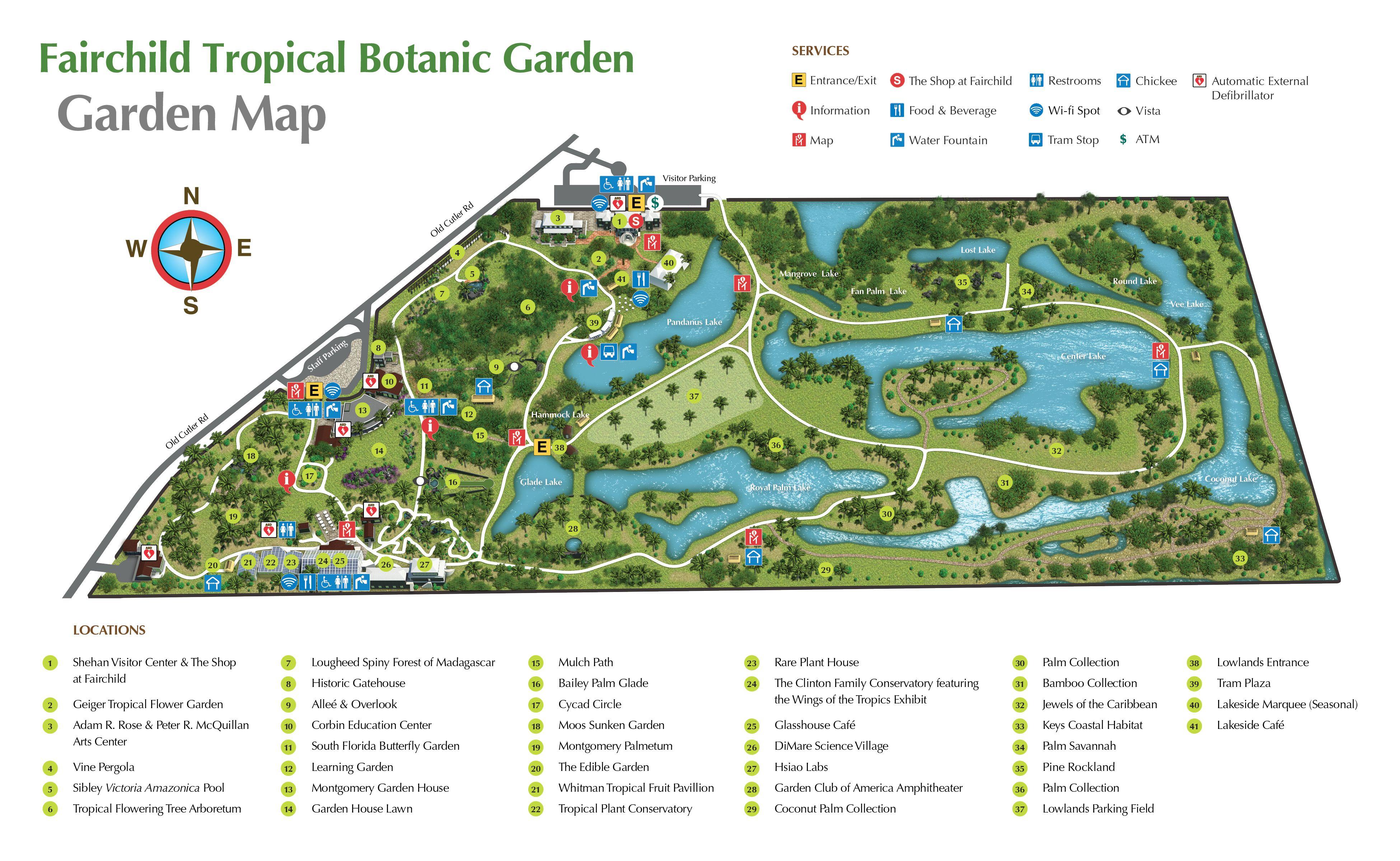 Pinsharon K On Florida Keys-Sightseeing Things To Do | Florida - Florida Botanical Gardens Map