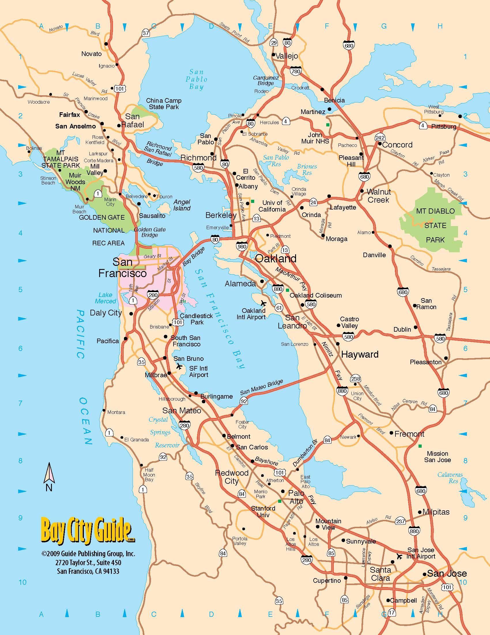 Pinshow Liu On Places To Visit | Pinterest | Tourist Map, San - Map Of California Near San Francisco