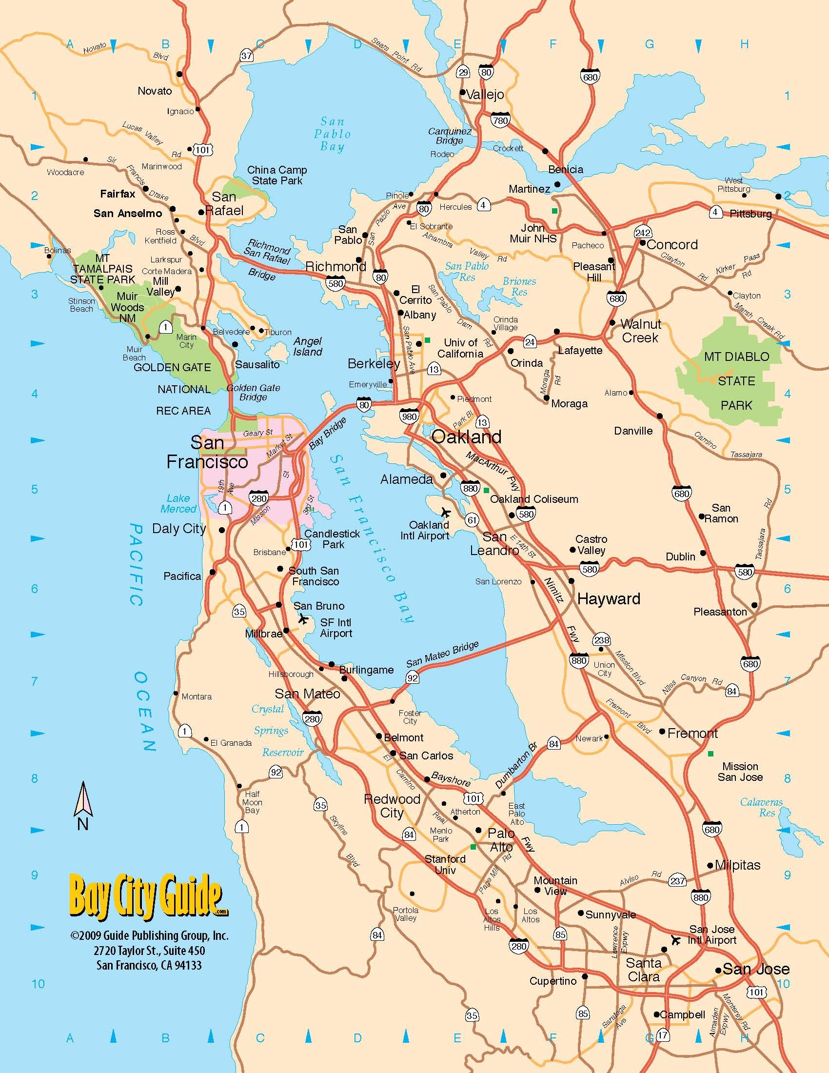 Pinshow Liu On Places To Visit | Pinterest | Tourist Map, San - San Francisco Bay Area Map California
