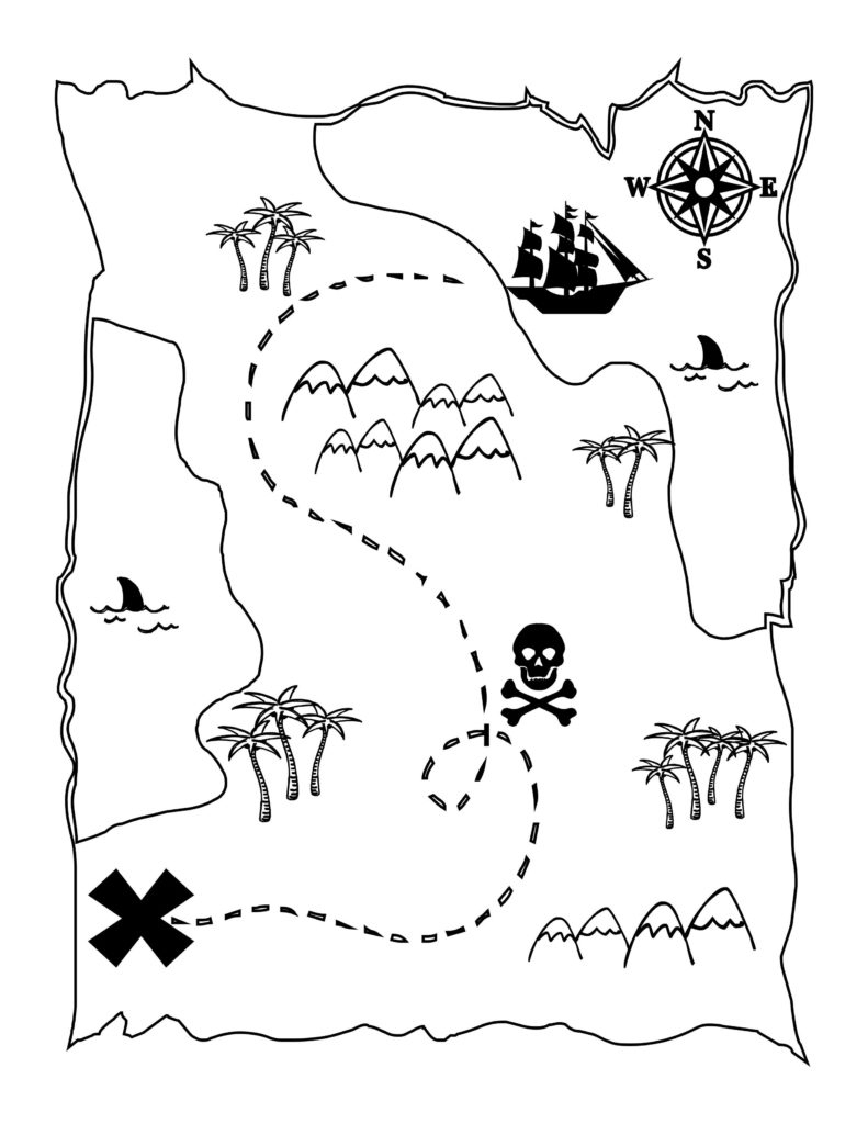 Pirate Map Printable #9681 - Printable Neverland Map