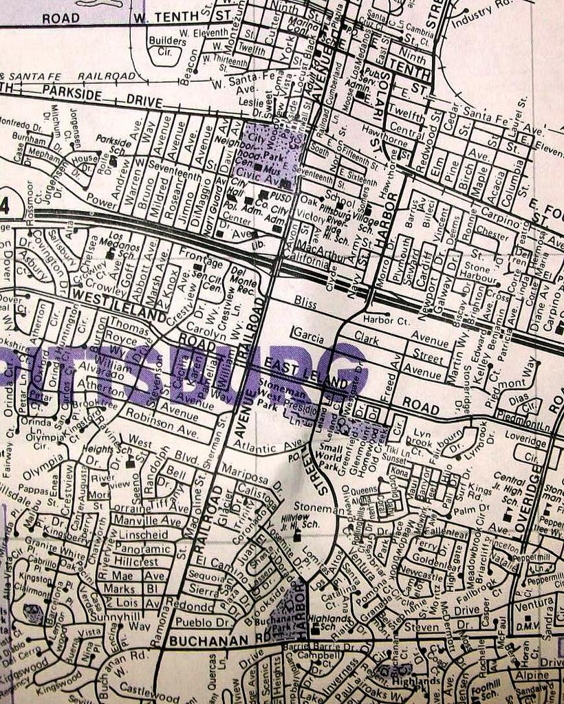 Pittsburg Ca 1996 | Mapcompass Maps. | Davecito | Flickr - Pittsburg California Map