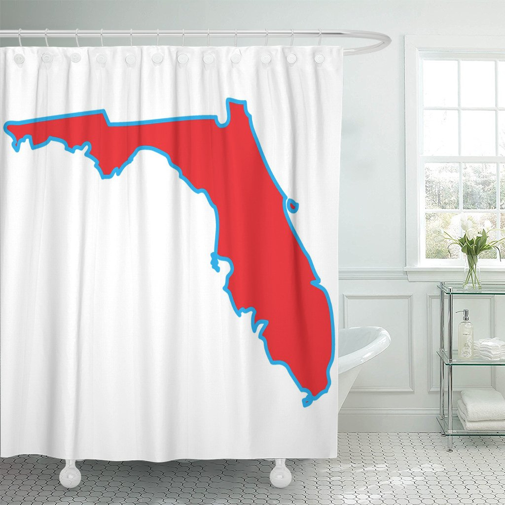 Pknmt Shape Map Of The State Florida Abstract America Border Shower - Florida Map Shower Curtain