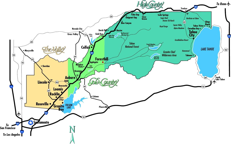 Placer County California Within Auburn Map - Touran - Auburn California Map
