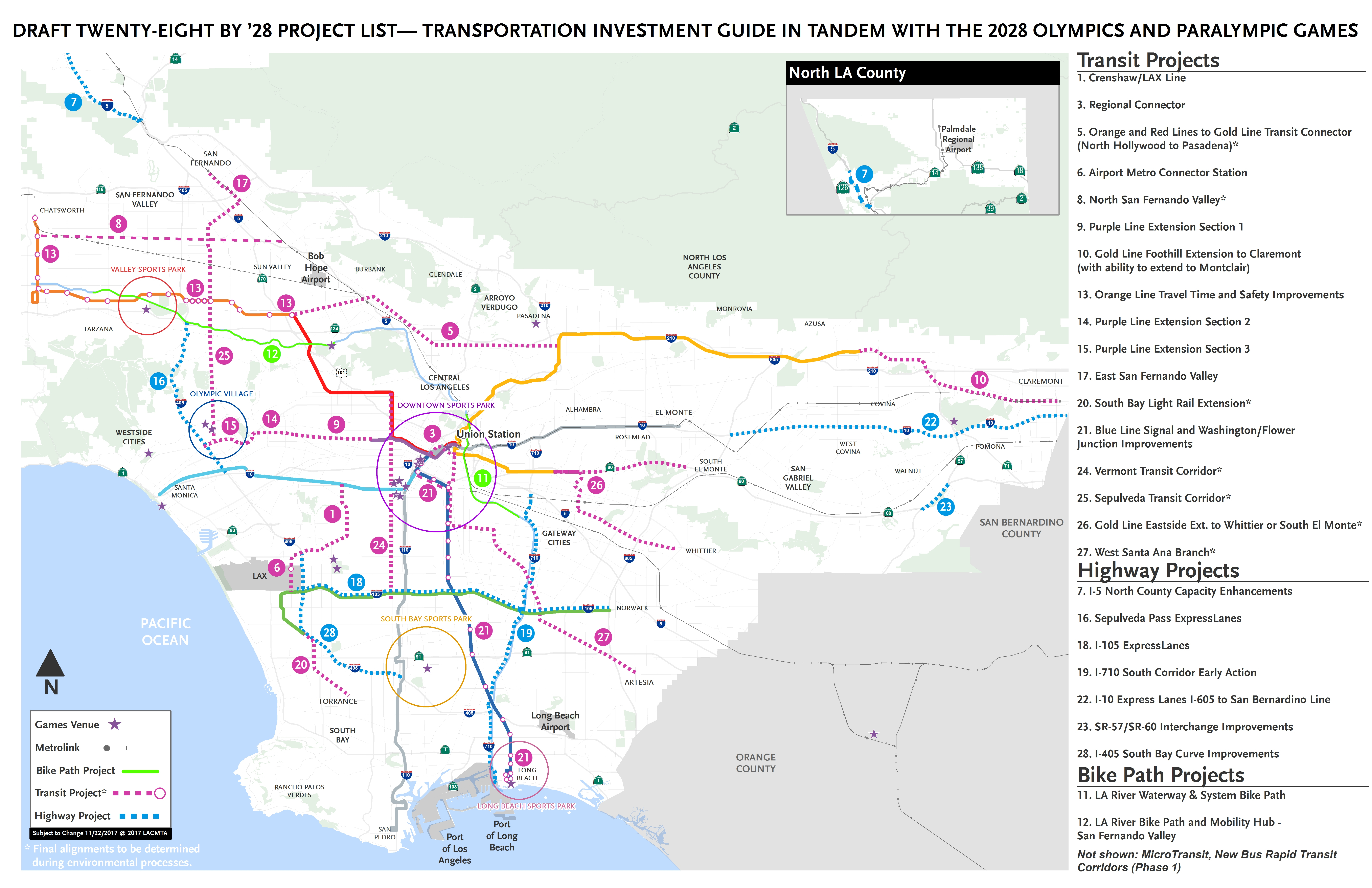 Plan Seeks To Complete 28 Transpo Projects2028 Olympics And - Southern California Metrolink Map