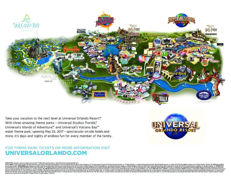Plan Universal Studios Resort | Le Courrier De Floride - Universal Studios Florida Map 2018